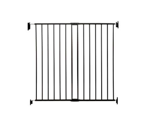 Regalo Extra Tall Top of Stairs Baby Safety Gate - Black Perspective: front