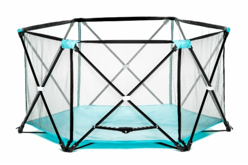 Regalo My Play 6-Panel Portable Play Yard - Aqua Perspective: front