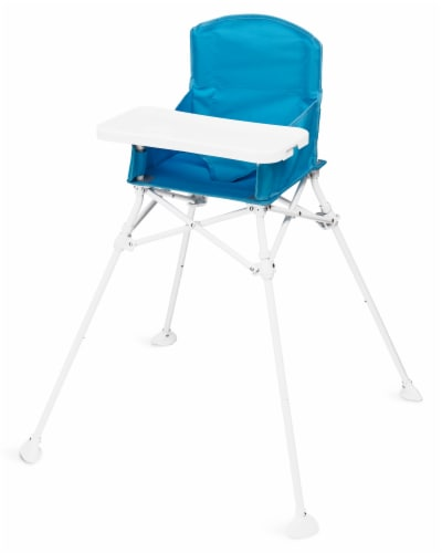 Regalo Portable High Chair with Travel Sleeve - Aqua Perspective: front