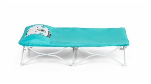Regalo Bear My Cot Pal Portable Toddler Cot - Teal Perspective: front
