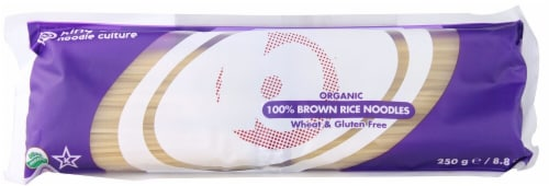 King Soba  Organic 100% Brown Rice Noodles Perspective: front
