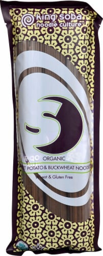 King Soba Organic Sweet Potato and Buckwheat Noodles Perspective: front