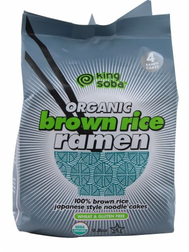 King Soba  Organic Brown Rice Ramen Noodles Perspective: front