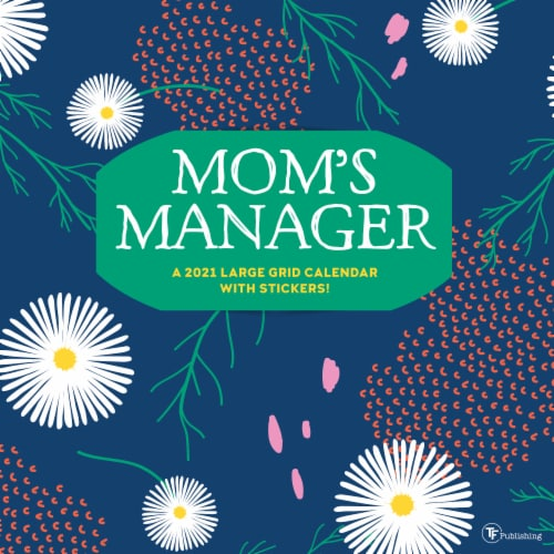 TF Publishing 2021 Mom's Manager Large Grid Wall Calendar Perspective: front