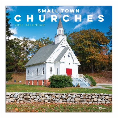 2021 Small Town Churches Wall Calendar by TF Publishing Perspective: front
