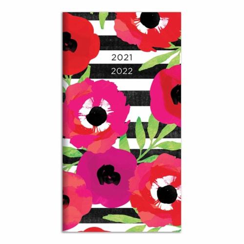 TF Publishing 2021-2022 Pocket Planner - Floral Stripes Perspective: front
