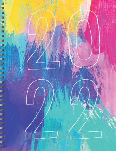 2022 Paint It Bright Large Weekly Monthly Planner by TF Publishing Perspective: front
