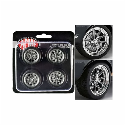 Acme A1801837W Street Fighter 18 G-Force Wheel & Tire From 1967 Ford Mustang Shelby GT500 1 b Perspective: front