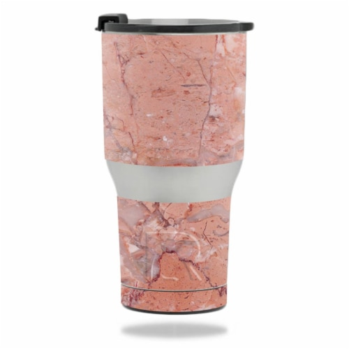 MightySkins RTTUM2017-Pink Marble Skin for RTIC 20 oz Tumbler 2017 - Pink Marble Perspective: front