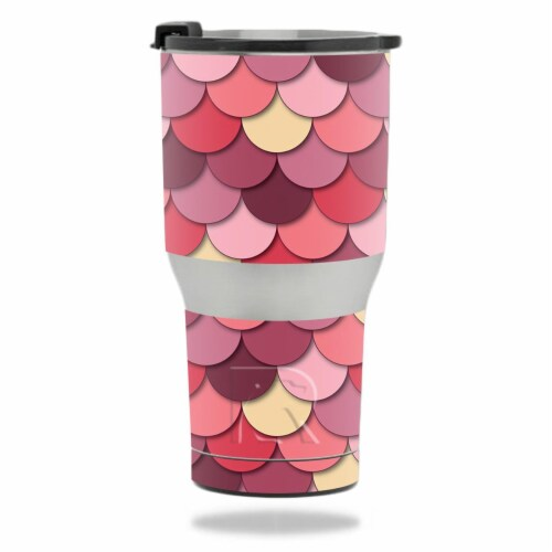 MightySkins RTTUM2017-Pink Scales Skin for RTIC 20 oz Tumbler 2017 - Pink Scales Perspective: front