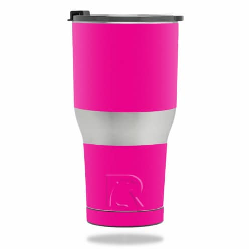 MightySkins RTTUM3017-Solid Hot Pink Skin for RTIC Tumbler 30 oz 2017 - Solid Hot Pink Perspective: front