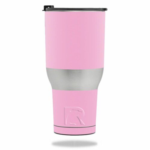 MightySkins RTTUM4017-Solid Pink Skin for RTIC Tumbler 40 oz 2017 - Solid Pink Perspective: front
