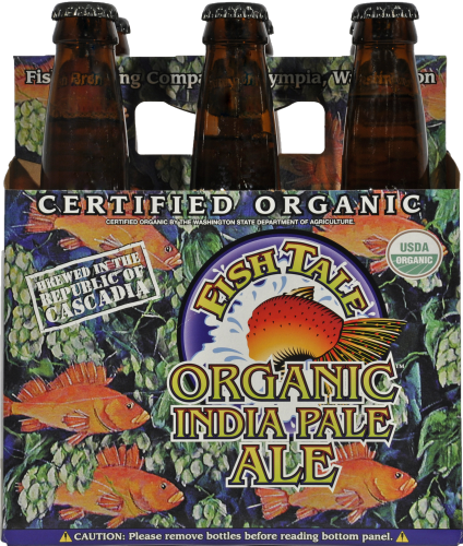 Fish Tale Organic IPA Perspective: front