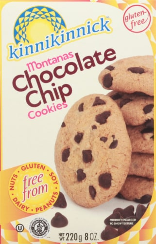 Kinnikinnick Foods Gluten Free Cookies Montana's Chocolate Chip Perspective: front