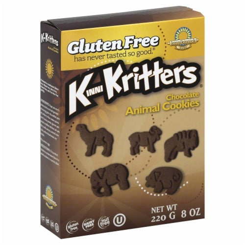 Kinnikinnick KinniKritters Chocolate Animal Crackers Perspective: front