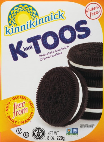 Kinnikinnick KinniToos Cookies Chocolate Sandwich Creme Perspective: front