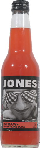 Jones Strawberry Lime Soda Perspective: front