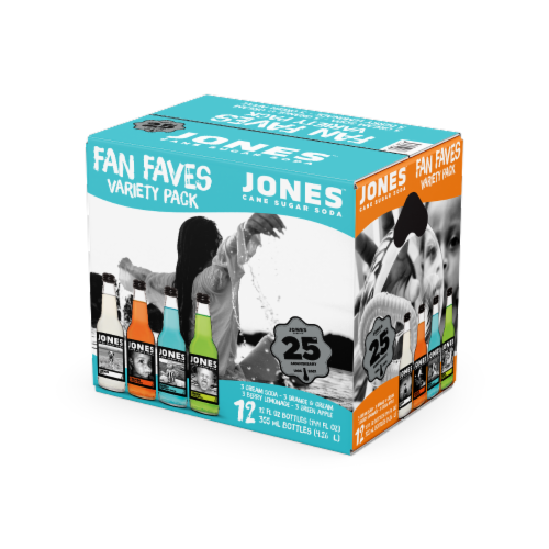 Jones Fan Faves Soda Variety Pack Perspective: front