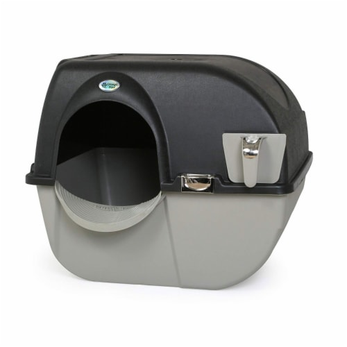 Omega Paw EL-RA20-1 Roll N Clean Self Separating Self Cleaning Litter Box, Large Perspective: front