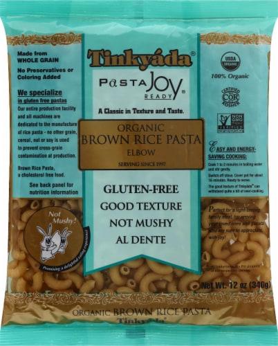 Tinkyada Organic Elbows Brown Rice Pasta Perspective: front