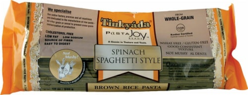 Tinkyada  Brown Rice Pasta Spinach Spaghetti Gluten Free Perspective: front