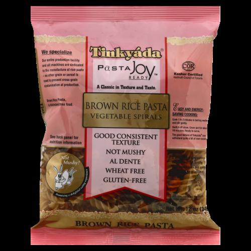 Tinkyada Organic Spirals Brown Rice Pasta Perspective: front