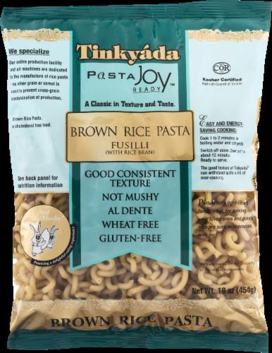Tinkyada Brown Rice Fusilli Pasta Perspective: front