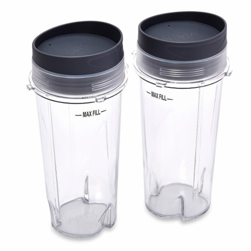 Ninja® Single Serve Cups with Lids - 2 Pack Perspective: front