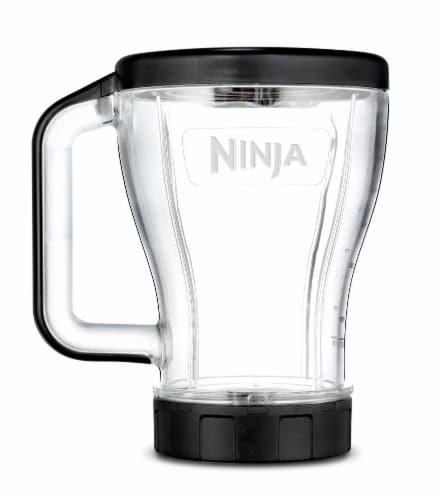 Ninja® Multi-Serve Tritan Nutri Ninja Cup - Clear/Black Perspective: front