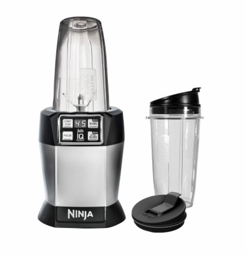 Ninja® Nutri Ninja® Auto-iQ™ Blender - Silver/Black Perspective: front