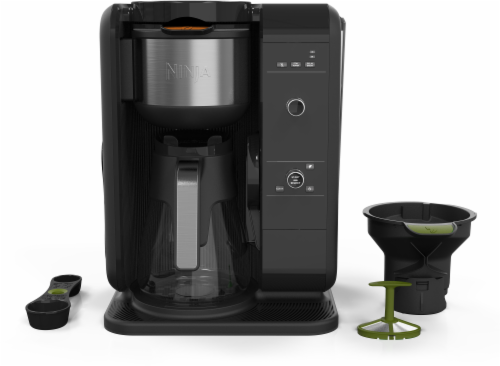 Ninja® Hot and Cold Brewed System™ Coffee Maker - Black/Silver Perspective: front