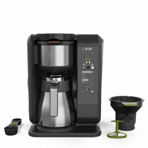 Ninja® Hot & Cold Brewed System Coffee Maker - Black/Silver Perspective: front