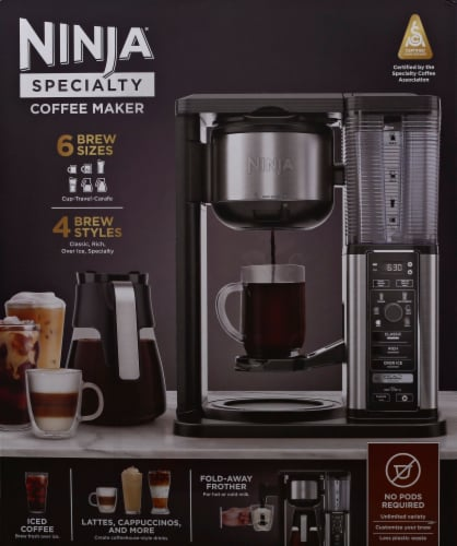 Ninja® Specialty Coffee Maker - Black/Silver Perspective: front