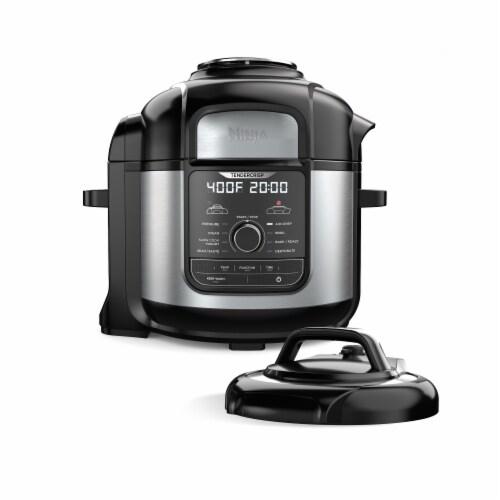 Ninja® Foodi Deluxe Cooker - Black/Silver Perspective: front