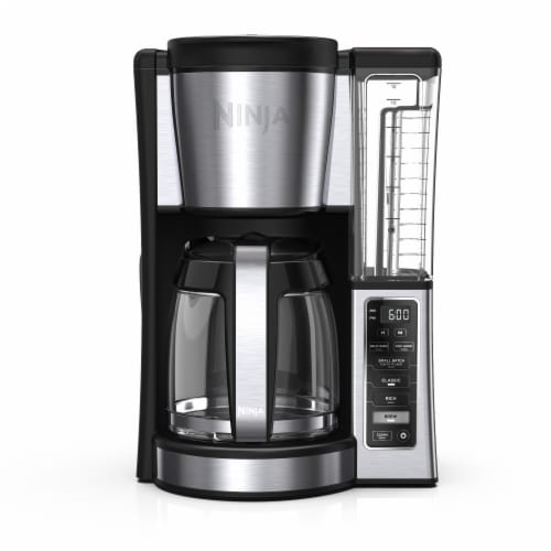 Ninja® Programmable Coffee Brewer - Black/Silver Perspective: front