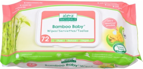 Aleva Naturals  Bamboo Baby® Sensitive Wipes Perspective: front