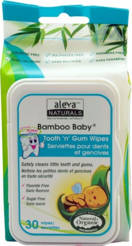 Aleva Naturals  Bamboo Baby® Tooth 'n' Gum Wipes Perspective: front