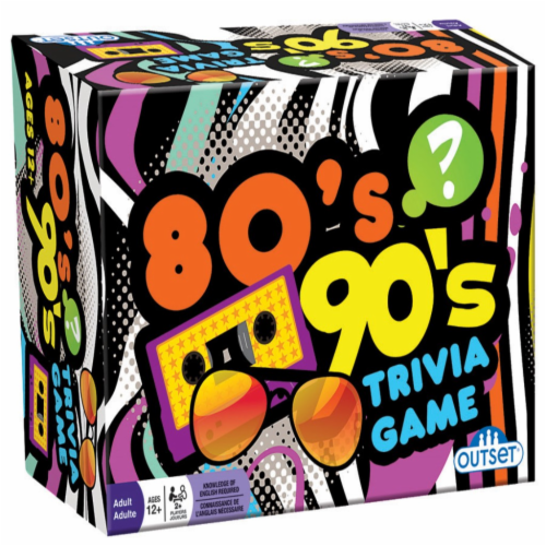 Outset Media® 80's & 90's Trivia Game Perspective: front
