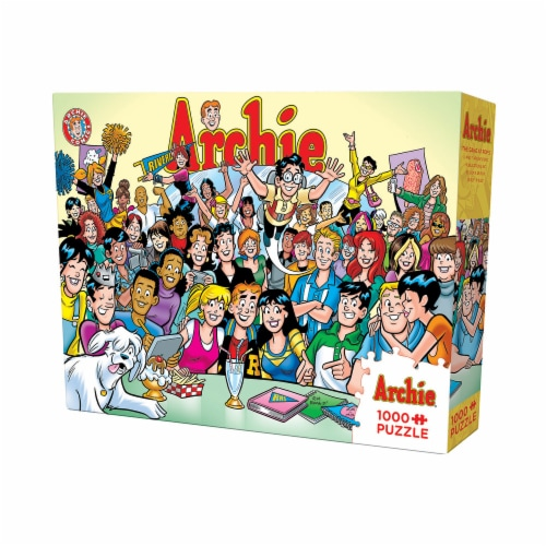 Cobble Hill Puzzle Company Archie Comics The Gang at Pops Puzzle Perspective: front