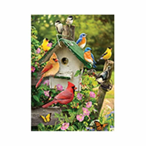Outset Media Games OM58876 Singing Around the Birdhouse Tray Puzzle, 35 Piece Perspective: front