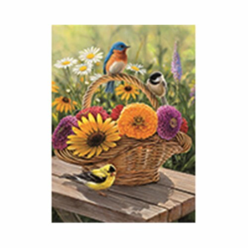 Outset Media Games OM58886 Bluebird & Bouquet Puzzle Tray, 35 Piece Perspective: front