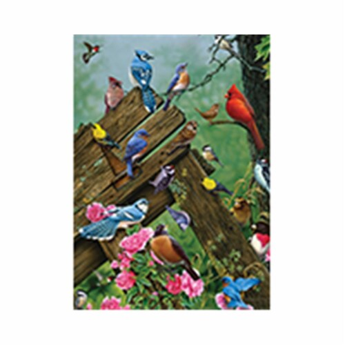 Outset Media Games OM58889 Wildbird Gathering Puzzle Tray, 35 Piece Perspective: front