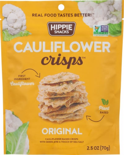 Hippie Snacks Original Cauliflower Crisps Perspective: front
