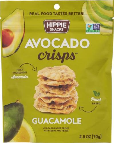 Hippie Snacks Guacamole Avocado Crisps Perspective: front