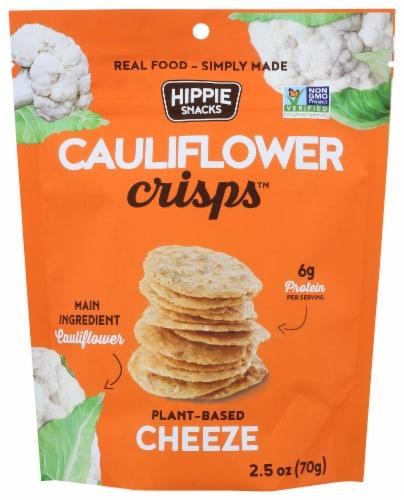 Hippie Snacks Cheeze Cauliflower Crisps Perspective: front