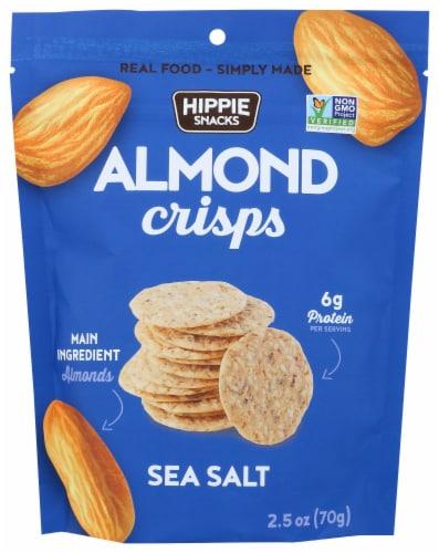 Hippie Snacks Sea Salt Almond Crisps Perspective: front
