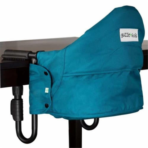 Perch Hanging High-Chair - Aqua Perspective: front