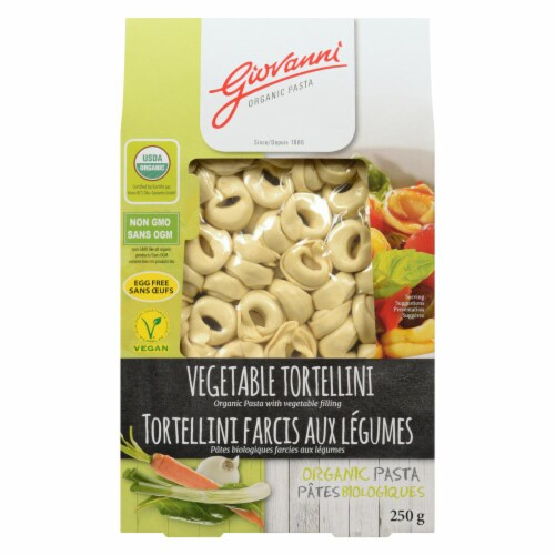 Giovanni Organic Vegetable Tortellini Perspective: front