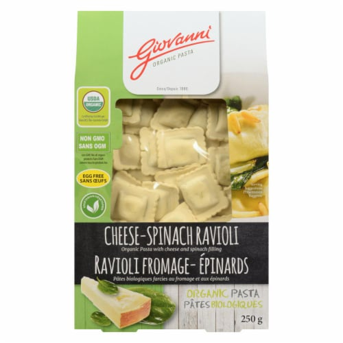 Giovanni Organic Cheese-Spinach Ravioli Perspective: front
