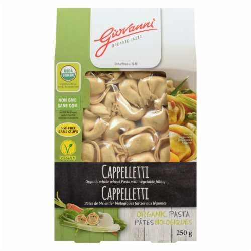 Giovanni Organic Whole Wheat Vegetable Filling Cappelletti Perspective: front